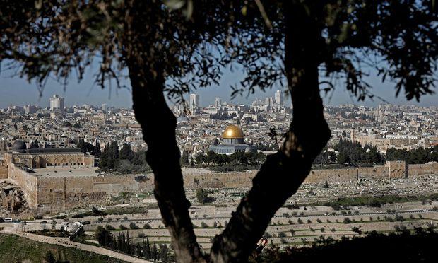 Jerusalem: Blick auf den Tempelberg mit dem berühmten Felsendom.