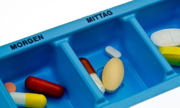 Tabletten und Medikamente als Tagesdosis
