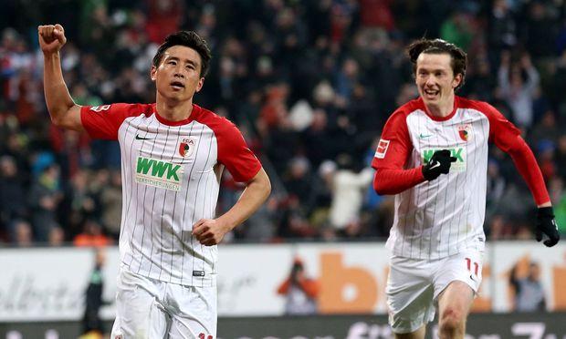 Ja Cheol Koo FC Augsburg 19 Jubel nach dem 1 0 FC Augsburg vs Hamburger SV 1 Bundesliga Fussba
