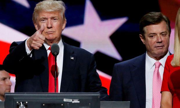 Trump und sein ehemaliger Wahlkampfleiter Paul Manafort.