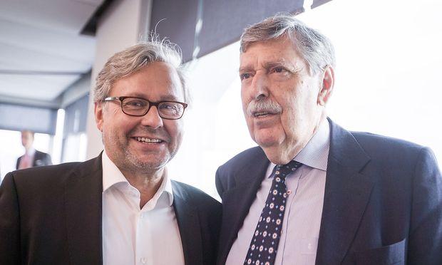 Wrabetz (links) und Steger am Tag der Sitzung.