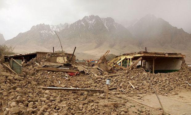 Ein Erdbeben in der chinesischen Provinz Xinjiang. / Bild: APA/AFP/STR