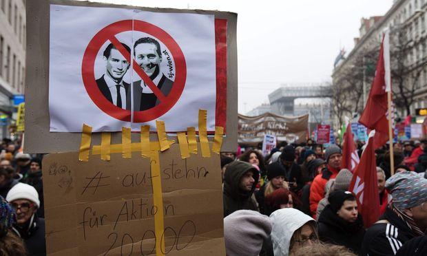 Großdemo gegen die türkis-blaue Bundesregierung