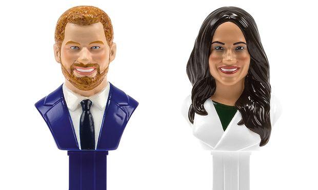 Prinz Harry und Meghan Markle sind als PEZ-Spender ersteigbar.