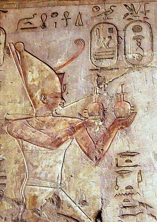 Darstellung des Psammetich in der Nekropole von Theben