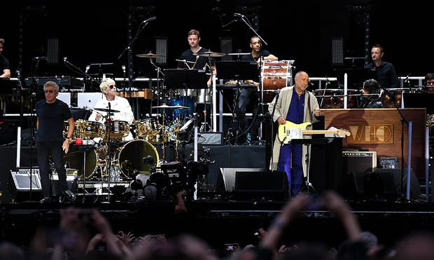 July 6 2019 London United Kingdom British iconic rock band The Who perform live at Wembley St