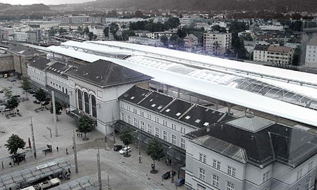 Salzburger Hauptbahnhof, wie er nach dem Umbau aussehen soll.