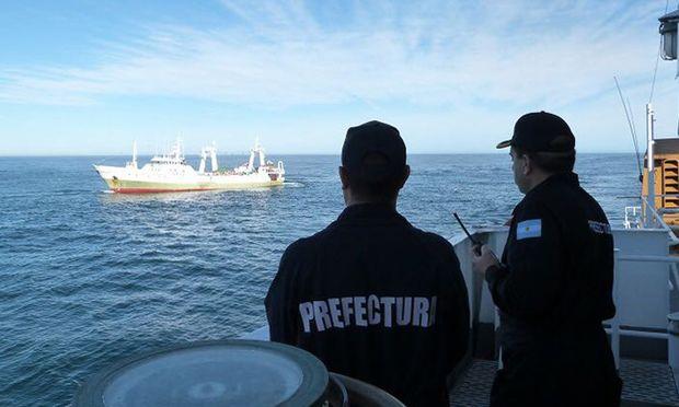 Die Playa Pesmar Uno, kurz bevor die argentinische Küstenwache eingriff.