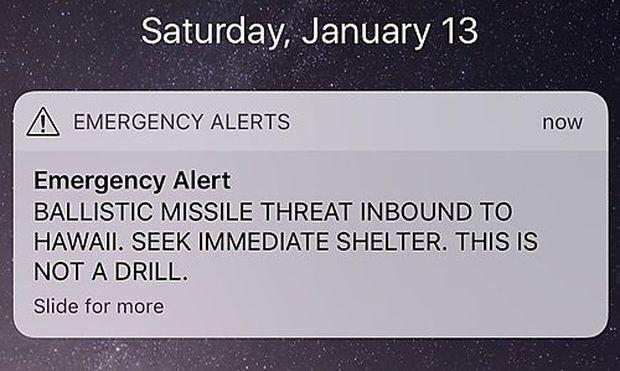 Screenshot: Raketenalarm
