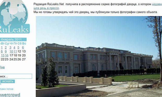 Putin LuxusPalast Staatskosten