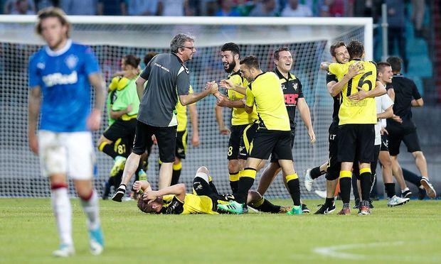 Fußball: Glasgow Rangers scheiterten gegen Luxemburger Amateure