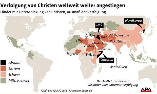 Verfolgung von Christen weltweit.