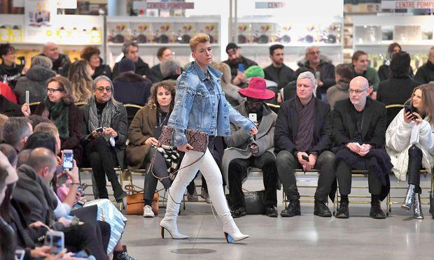 Gaststar. Designerin Helga Ruthner modelte zuletzt für Vetements.