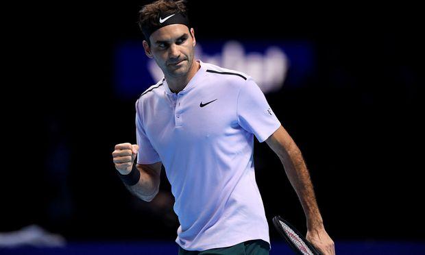 Der siegreiche Roger Federer.