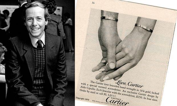 """Verliebt. """"Love"""" kreierte Cipullo 1970 für Cartier, """"Juste un clou"""" ein Jahr darauf."""