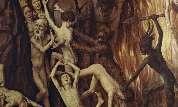 """Hans Memling, Höllenszene im Triptychon """"Das Jüngste Gericht"""", Danziger Marienkirche."""