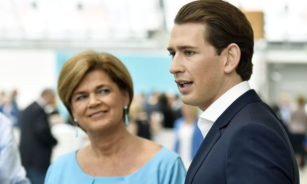Bettina Glatz-Kremsner mit ÖVP-Chef Sebastian Kurz