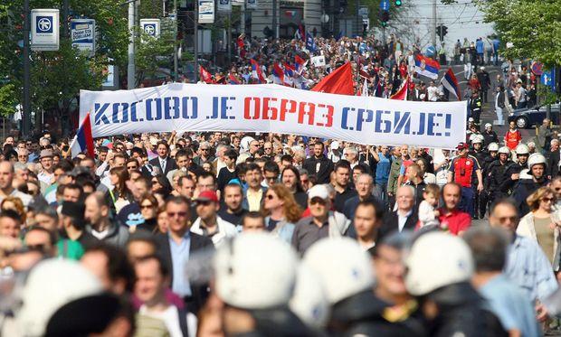 Kosovo-Serben hintertreiben EU-Annäherung