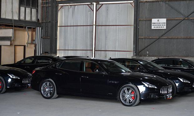 Auch eine Maserati-Flotte war beim APEC-Gipfel im Einsatz