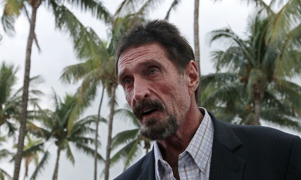 John McAfee 2012 in Miami