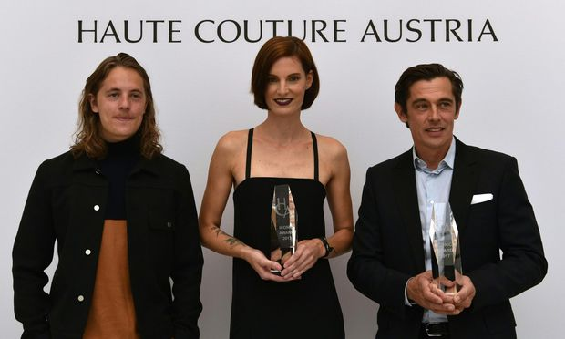 DJ und Model Pierre Sarkozy, Iris Strubegger und Werner Schreyer