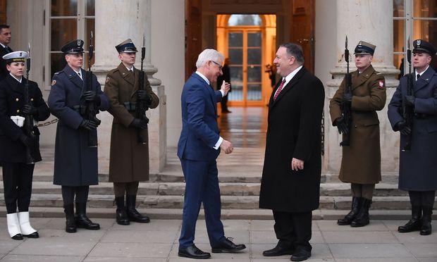 Polens Außenminister empfängt Mike Pompeo.