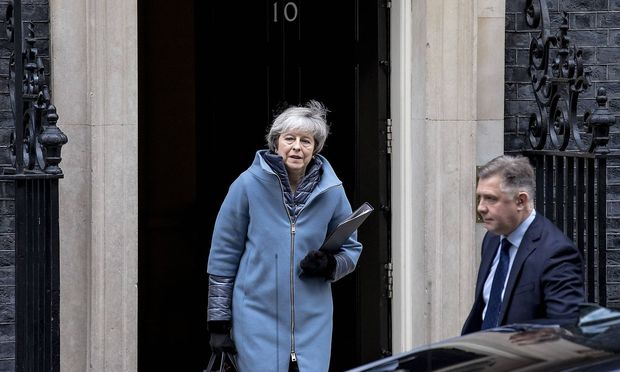 February 12 2019 London London UK London UK Prime Minister Theresa May leaves 10 Downing St