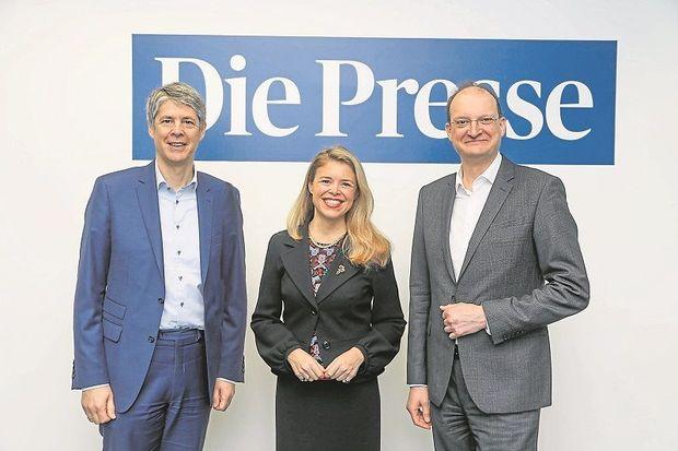 Martin Munte, Nathalie Moll und Alexander Herzog diskutierten über den Wettbewerb in der Pharmaindustrie.