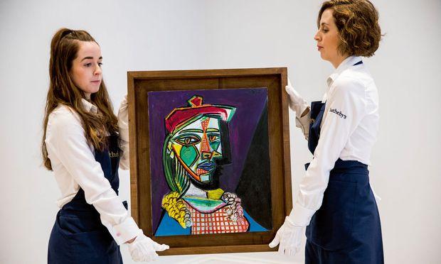 Ablöse: Als Picasso Marie-Th´er`ese Walter porträtierte, war Dora Maar, die nachfolgende Geliebte, schon in sein Leben getreten. / Bild: (c) Sotheby's