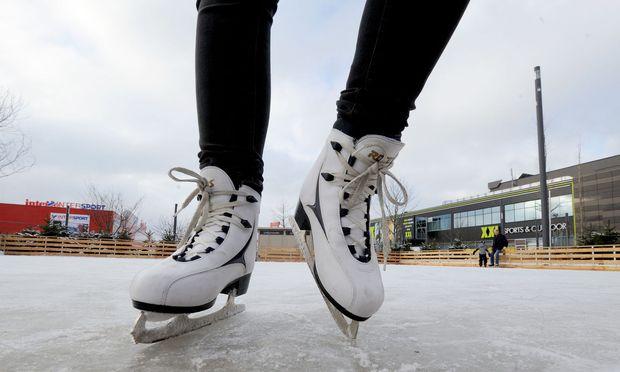 Eislaufen in der SCS: kleine Fläche, gutes Eis.