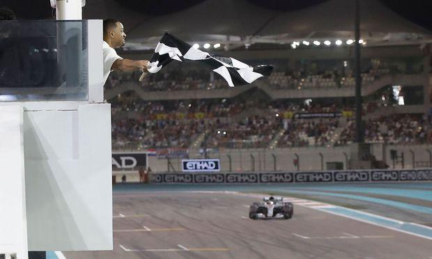Zielflagge bei F1-Rennen