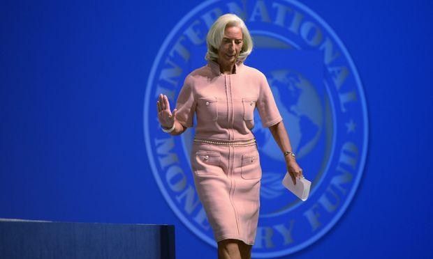 """IWF-Chefin Christine Lagarde sprach schon 2014 von einem neuen, """"multilateralen"""" System."""
