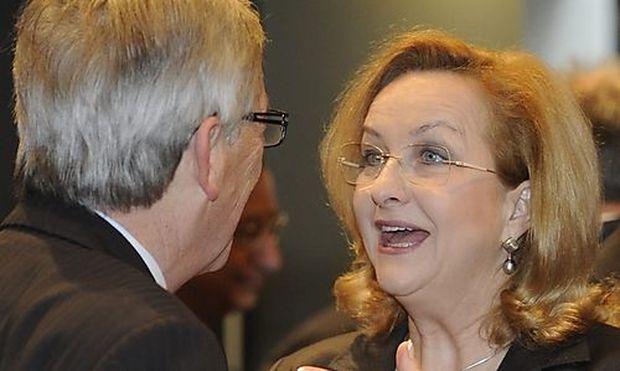 Maria Fekter und Jean-Claude Juncker.