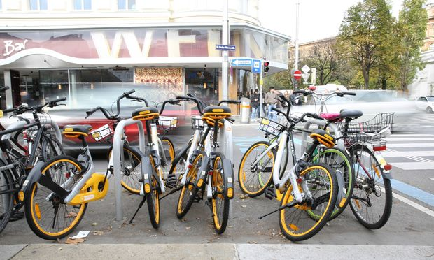 Bald Geschichte: Die Obike-Leihräder dürften bald aus dem Wiener Stadtbild verschwinden.