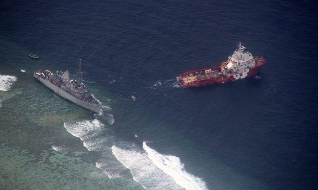Das Schiff zerstörte etwa 1000 Quadratmeter eines Korallenriffs.