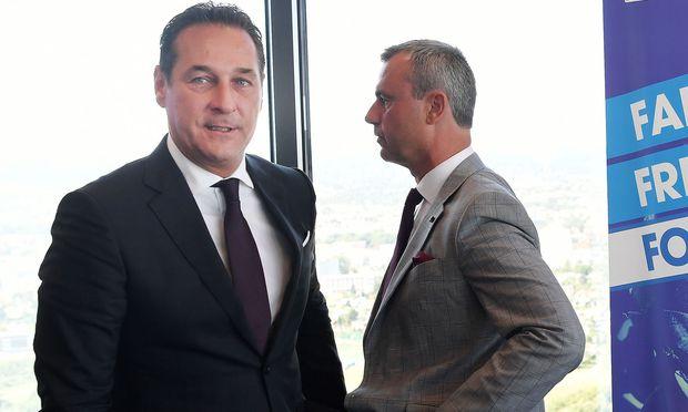 FPÖ-Chef Strache und Vizeparteichef Hofer
