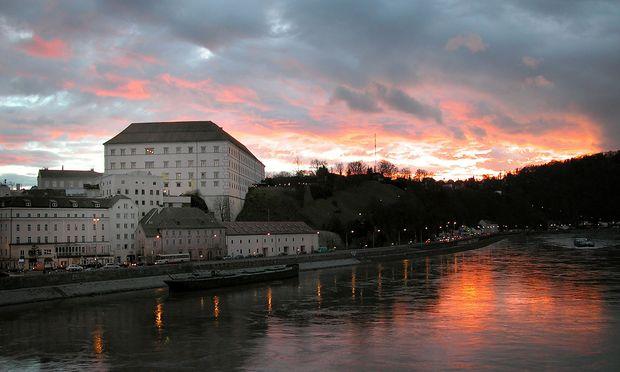 Oesterreich, Linz, Schloss, Abendstimmung