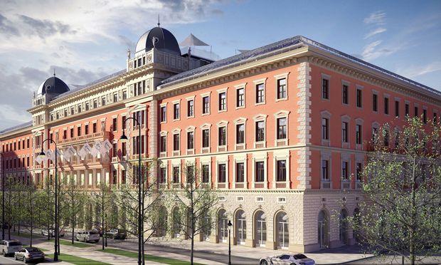 Mixed-Use-Konzept beim Palais Hansen Kempinski: Die Luxuswohnungen in den obersten Geschoßen profitieren vom Dienstleistungsangebot des Hotels.