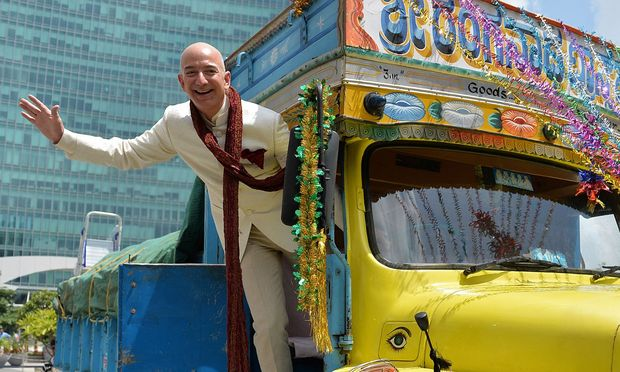 Amazon-Chef Jeff Bezos  / Bild:  AFP (MANJUNATH KIRAN)