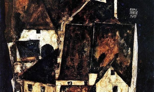 """Archivbild  """"Tote Stadt III"""" von E.Schiele"""