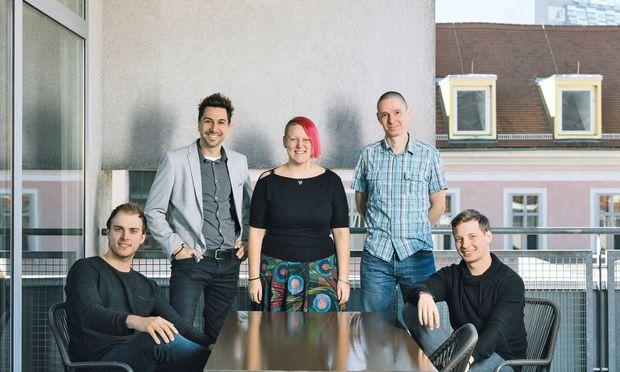 Sunnybag-Gründer Stefan Ponsold (zweiter von links) und das Team.