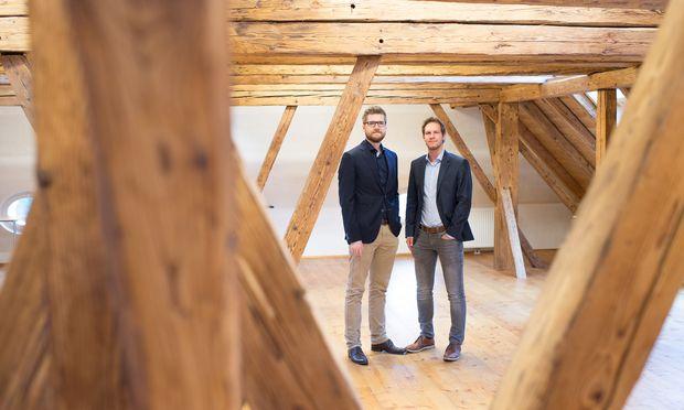 Die NativeWaves-Gründer Christof Haslauer (links)  und Oliver Dumböck.