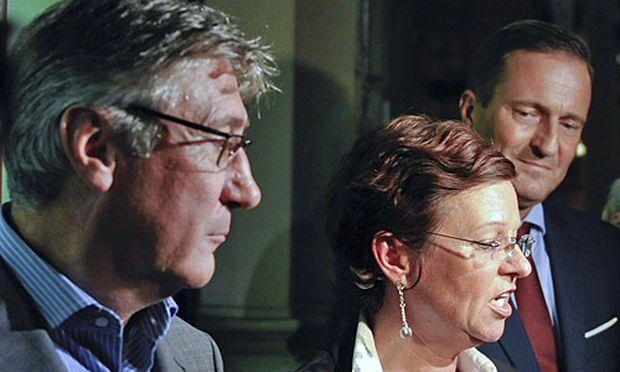 Der neue Klubobmann Fritz Aichinger, die interimistische Parteichefin Christine Tamandl und der neue nicht amtsführende Stadtrat Manfred Juraczka (v.l.n.r.)