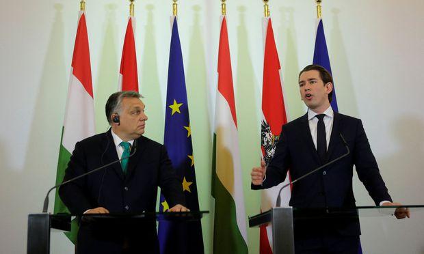 Viktor Orbán und Sebastian Kurz