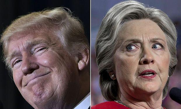 Trump und Clinton.