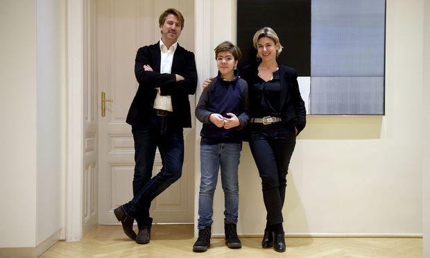 Clemens (40) und Katharina (42) Rauhs und ihr zwölfjähriger Sohn Johannes.