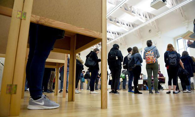 Stimmabgabe bei der diesjährigen ÖH-Wahl