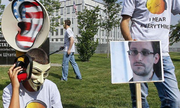 Kundgebung für Snowden