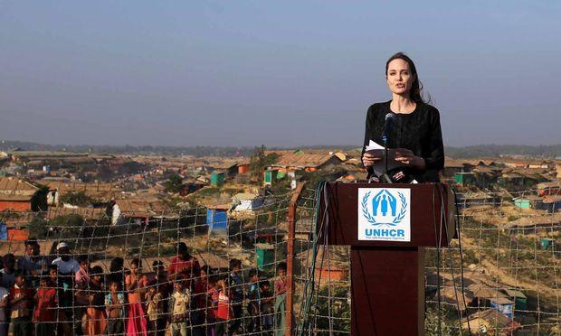 Angelina Jolie im Lager Kutupalong