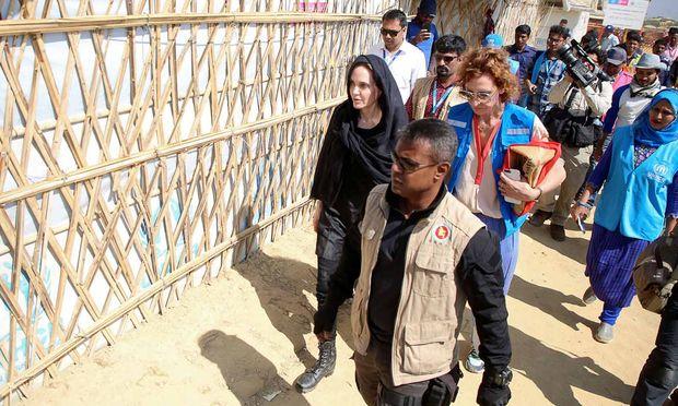 Angelina Jolie besichtigt das Lager Kutupalong in Cox' Bazar im südöstlichen Bangladesch